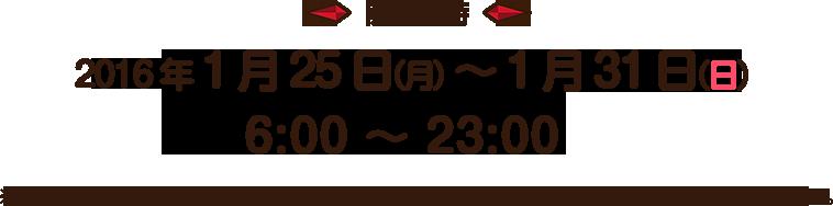 開催日時 2016年1月25日(月)~ 1月31日(日) 6:00 〜 23:00※壁面ブロックの取り外しが出来るのは、1月28日(木)7:00からになります。ご注意ください。