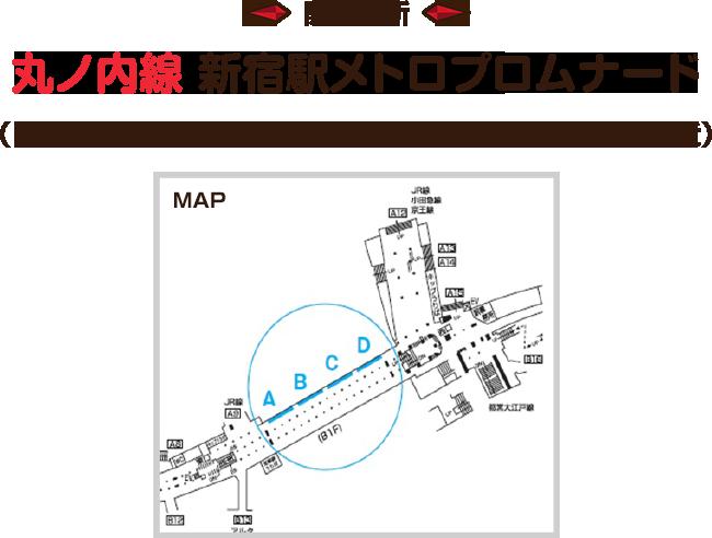 開催場所 丸ノ内線 新宿駅メトロプロムナード(※アクセス 新宿東口側地下A9出口、アルタ地下入口付近)
