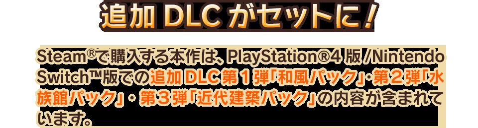 追加DLCがセットに!