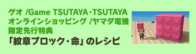 ゲオ/Game TSUTAYA・TSUTAYAオンラインショッピング/ヤマダ電機限定先行特典「紋章ブロック・命」のレシピ