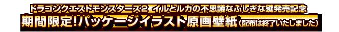 ドラゴンクエストモンスターズ2  イルとルカの不思議なふしぎな鍵発売記念 期間限定! パッケージイラスト原画壁紙(配布は終了いたしました)