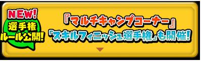 『マルチキャンプコーナー』「スキルフィニッシュ選手権」も開催!