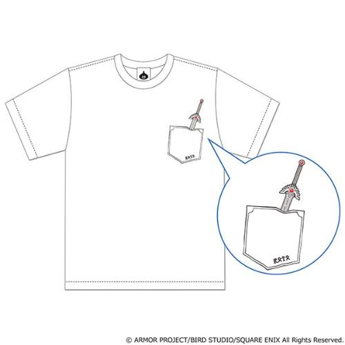ドラゴンクエスト 胸元にロトのつるぎを装備できるTシャツ